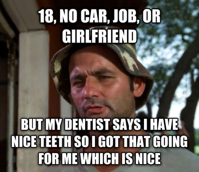 bill murray, nice teeth, meme, joke