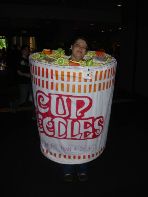 Cup Costume Cup of Noodles Costume Win
