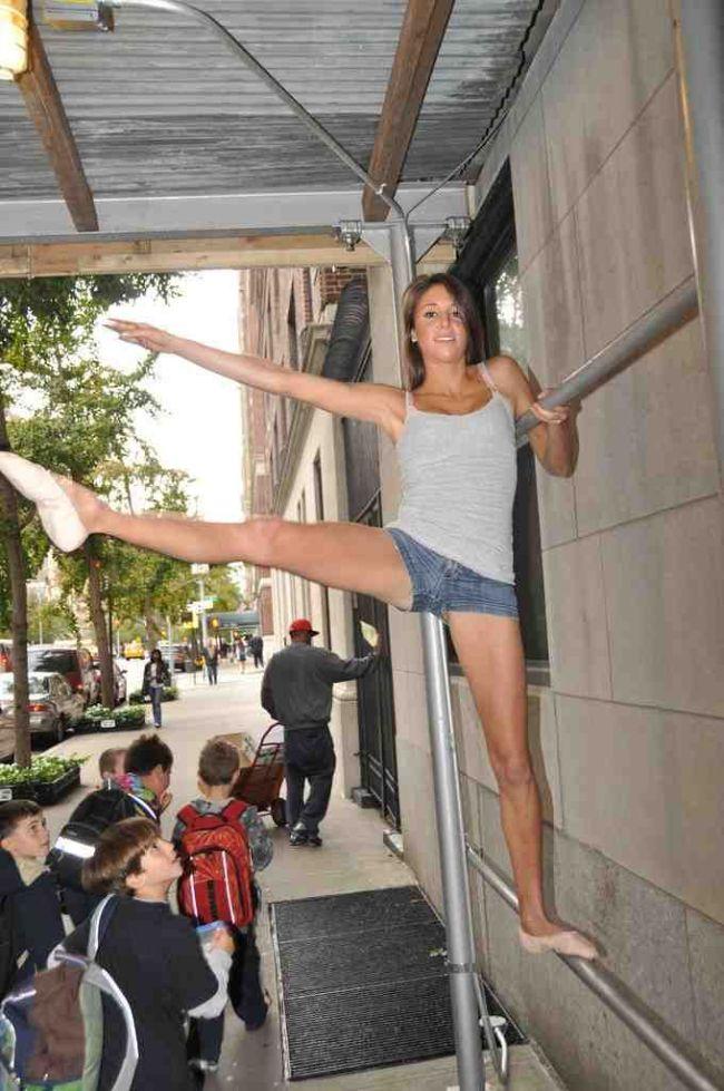 gymnastics, flexible, kid looking