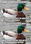 actual advice mallard, meme, boner, hide, double