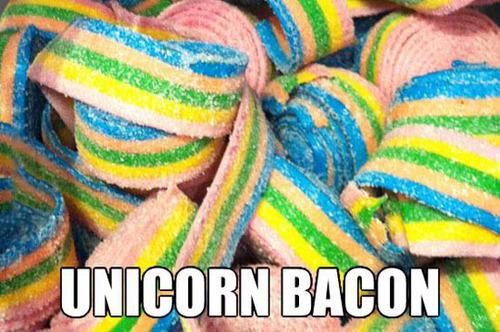 meme, candy, unicorn bacon