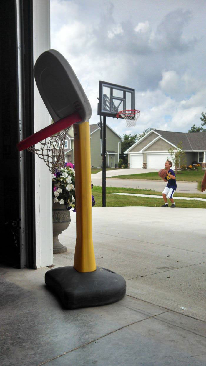 growing up, basketball net, disappointed
