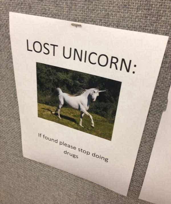 sign, unicorn, drugs