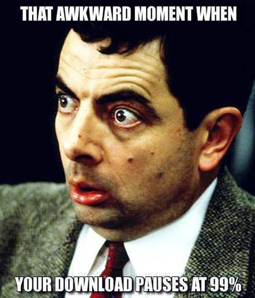 mr bean, face, download pauses at 99%, meme, awkward moment
