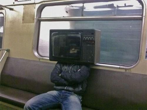 poorly dressed, tv, wtf, public transportation