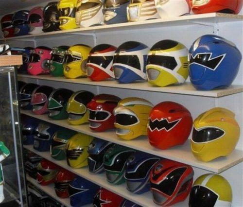 motorcycle helmet, power rangers