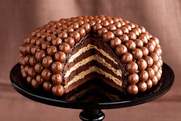 chocolate cake, multiple layers, food, mmm