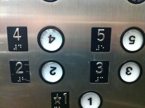 elevator, buttons, fail, upside down numbers