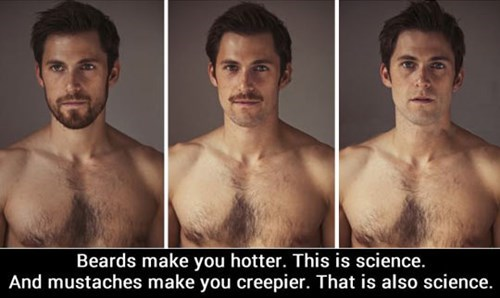 beards make you hotter, science, moustache, creepy