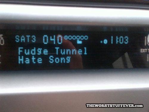 worst band name ever, radio, hate song, fudge tunnel
