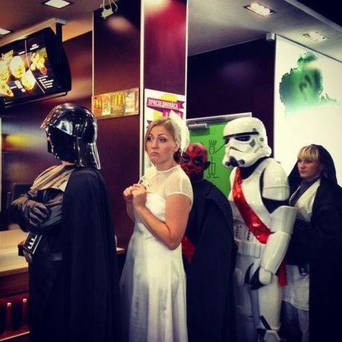 star wars, fast food, cosplay, costumes