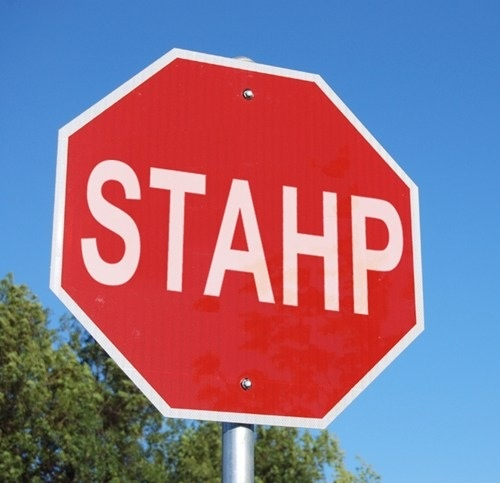 stahp, stop sign, hacked irl