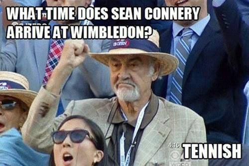 sean connery, tennis, tennish, accent, pun, wordplay, meme