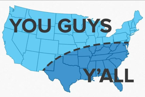 you guys, y'all, map, 'murica
