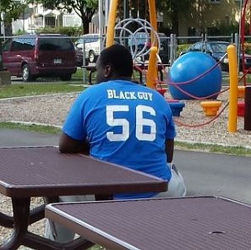 shit, black guy, jersey, 56, number