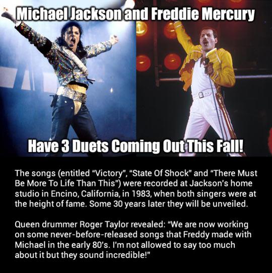 michael jackson, freddie mercury, duets, 2013