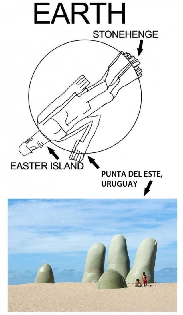 earth, stonehenge, statue, easter island, punta del este