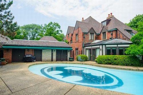 batpool, house, in ground pool, batman symbol