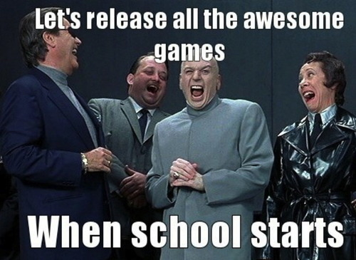 meme, dr evil, awesome games, school starts