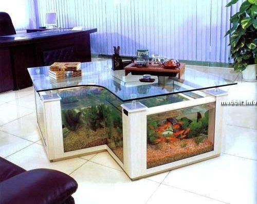 coffee table aquarium, design, win