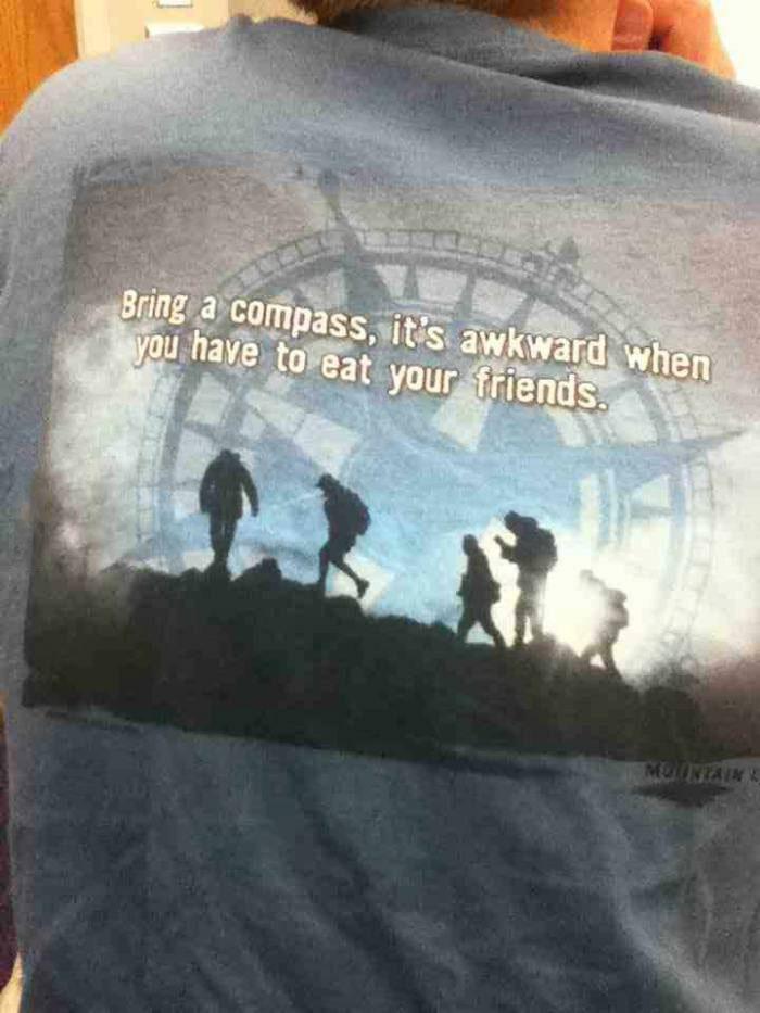 awkward moment, cannibalism, compass, tshirt, lol