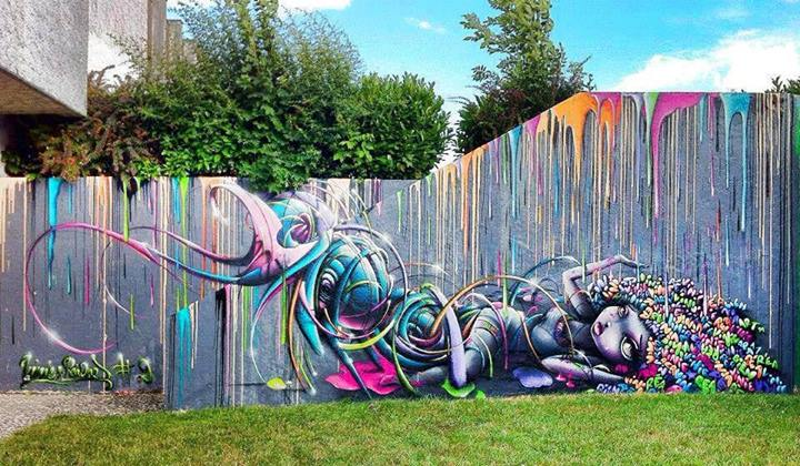 fence, street art, graffiti, colorful, win
