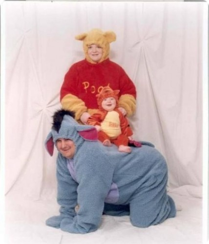 family portrait, wtf, winnie the pooh, costumes