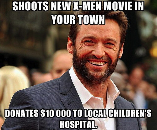 meme, new x-men movie, donates to children's hospital