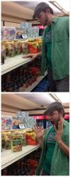 suddenly salad, grocery store, guy, surprise, lol