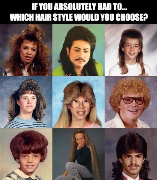 if you absolutely had to which hair style would you choose?, game