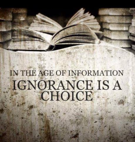 ignorance is a choice, age of information