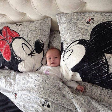 miney mouse, mickey mouse, blankets, baby, cute