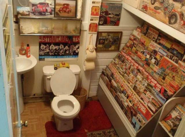 bathroom, reading material, magazine rack, win