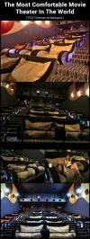 most comfortable theatre ever, malaysia, couch, pillow, movie