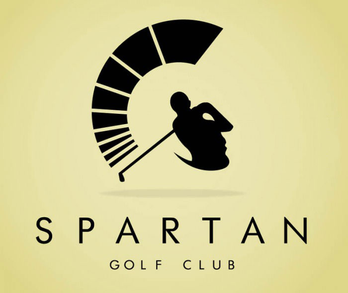 logo win, golf course, spartan