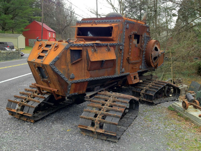 steampunk tractor tank, wtf, cool vehicles