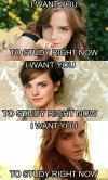 emma watson, i want you to study right now