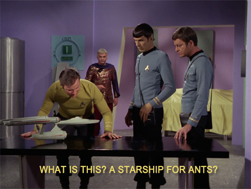 what is this a starship for ants, star trek, zoolander reference
