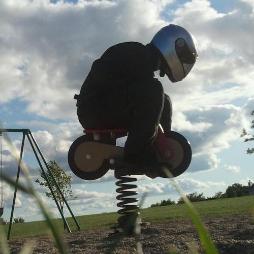 motorcycle helmet, park toy