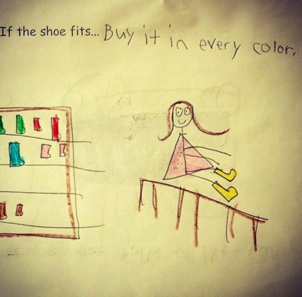 shoes, girl logic, every colour, expression
