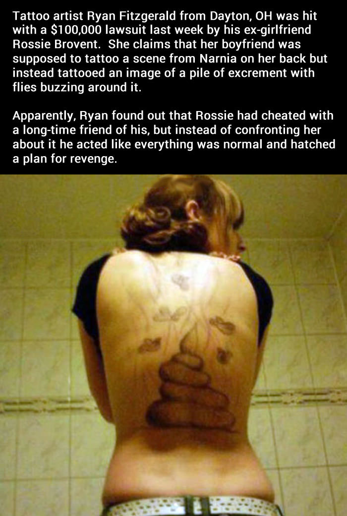 tattoo fail, story, poop, troll, revenge
