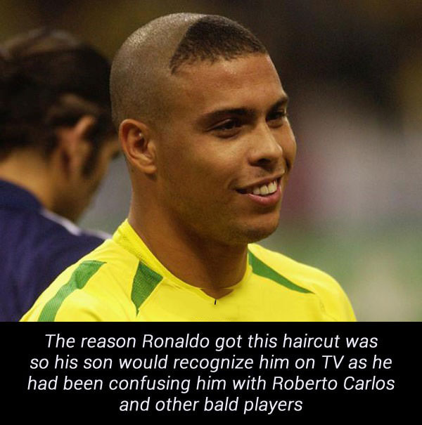 ronaldo, son, haircut, bald
