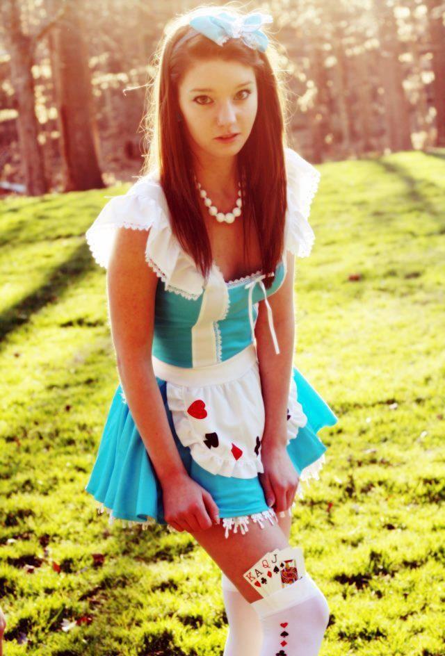 girl, costume, alice in wonderland, cute
