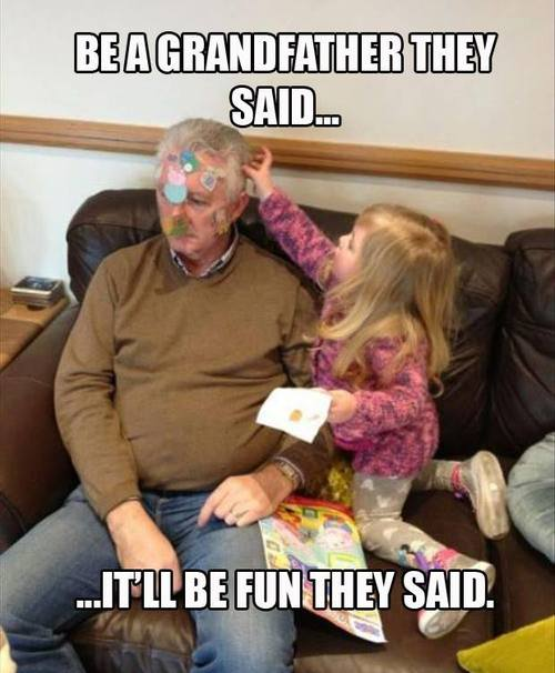 grandfather, grand daughter, it'll be fun they said, meme