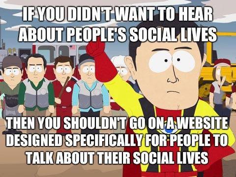 south park meme, facebook, social lives