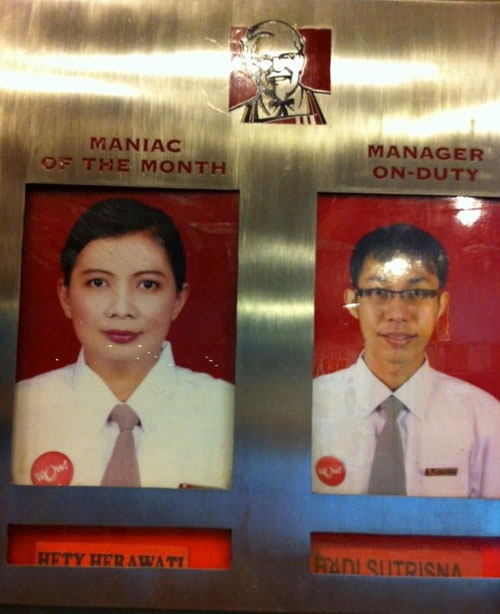maniac of the month, kfc, wtf, fast food chain employees