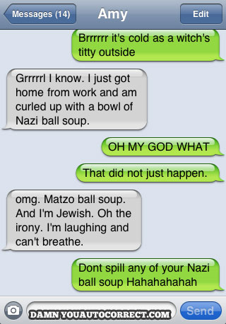 dyac, iphone, nazi ball soup