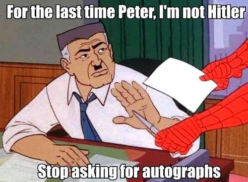spiderman, hitler, meme, autographs