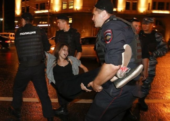 girl getting arrested, carried away, lol