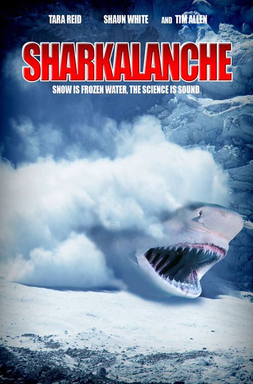 sharkalanche, movie poster, parody, science is sound